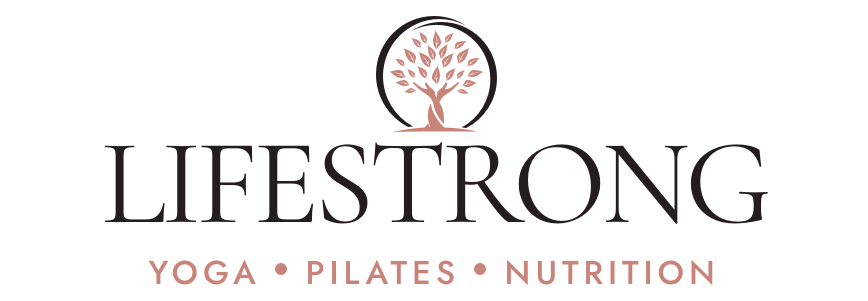 Lifestrong logo, yoga, pilates, nutrition