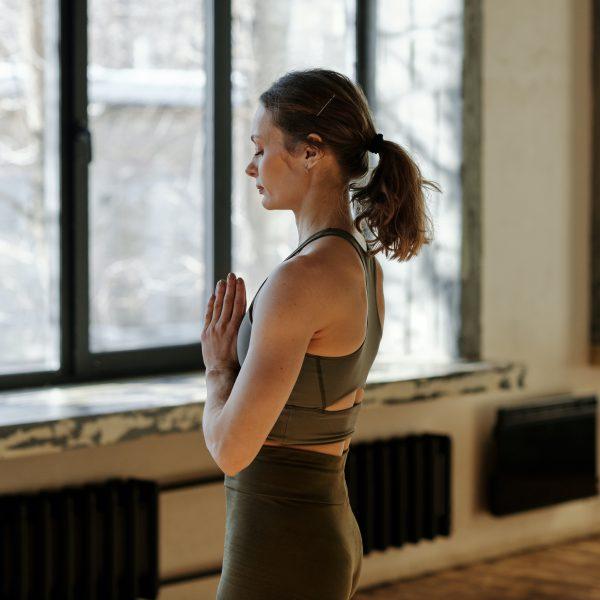 namaste yoga pose