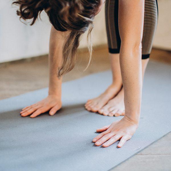 forward bend during yoga practise